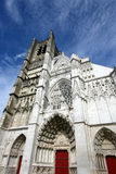 Auxerre Gothic cathedral royalty free stock photo