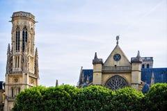 auxerrois教会法国germain l巴黎圣徒 免版税库存照片