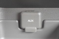 Auxhaven en Dekking Grey With White Font Royalty-vrije Stock Afbeeldingen