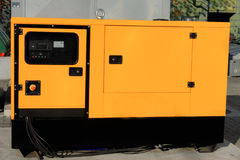 Auxiliary Diesel generator for Emergency Electric Power Stock Image