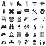 Auxiliary equipment icons set, simple style. Auxiliary equipment icons set. Simple set of 36 auxiliary equipment vector icons for web isolated on white Stock Photography