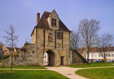 Auxonne town gate in France Stock Photos