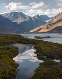 Auyuittuq国家公园风景,努纳武特,加拿大 库存图片