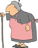 Avó cinzenta ilustração do vetor