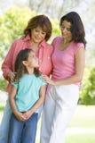 Avó com filha e o neto adultos Imagem de Stock Royalty Free
