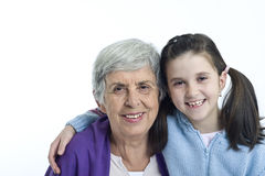 Avó e neta Foto de Stock