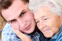 Avó e neto Imagens de Stock