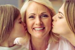 Avó, mamã e filha Imagem de Stock