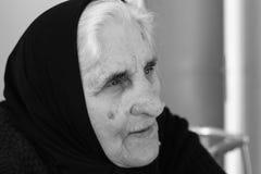 A avó recorda memórias Fotografia de Stock