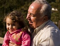 Avô e neta Imagem de Stock Royalty Free