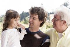 Avô, paizinho e granddaughte Fotos de Stock