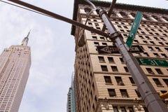 纽约曼哈顿第五大道第5 Av美国 图库摄影