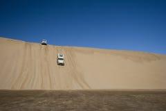 Av affärsföretag för väg 4x4 Namib öken Arkivbilder