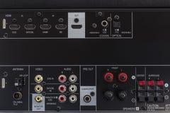 AV amplifier back side Royalty Free Stock Photography