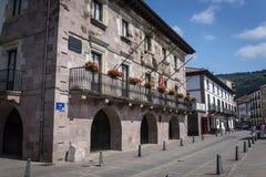 By av Baztan, Navarre, nordliga Spanien arkivfoto