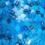 Av blåtten pryder med pärlor och sequins Royaltyfri Foto