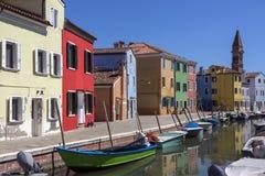Ö av Burano - Venedig - Italien Arkivfoton
