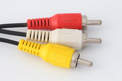 AV cable. royalty free stock photo