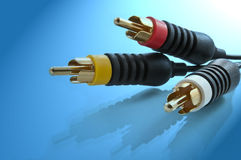 AV cables. Stock Photo