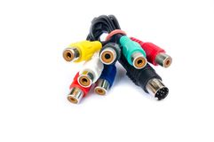 AV cables isolated Royalty Free Stock Images