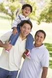Avô com filho e o neto adultos Fotos de Stock Royalty Free