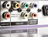 AV connectors Royalty Free Stock Images