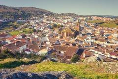 By av Cortegana, Huelva, Spanien Royaltyfri Fotografi