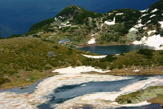 2 av de 7 Rila sjöarna Royaltyfri Bild