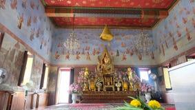 1 av den Ayuthaya templet i Thailand Arkivbild