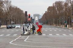 Av des Champs-Elysees стоковое фото