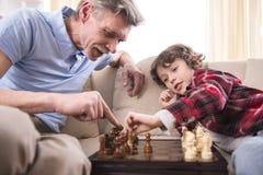 Avô e neto fotos de stock royalty free