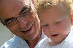 Avô e neto Imagens de Stock Royalty Free