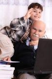 Avô e neto Foto de Stock
