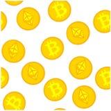 Av en bitcoinmodell Arkivbild