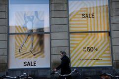 50% av försäljning på det Magasin du nord varuhuset Royaltyfria Foton