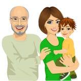 Avô feliz, mãe e seu filho ilustração royalty free