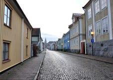 Av gatan i Västervik Sverige, Skandinavien, Europa royaltyfri bild