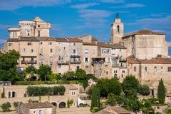 By av Gordes, Provence, Frankrike Royaltyfri Fotografi