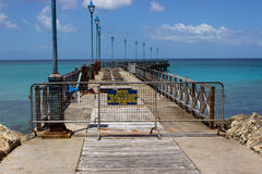 Av gränsbryggan under reparationer i St Peter Barbados Royaltyfria Bilder