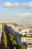 Av Hoche and Mont Matre hill, Paris, Royalty Free Stock Image