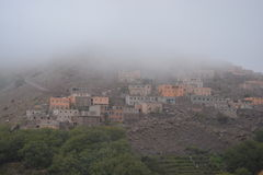 By av Imlil i Marocko Norr Afrika Royaltyfria Foton