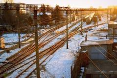 Av järnvägen Royaltyfria Bilder
