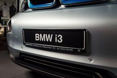 20 av Januari, 2018 - Vinnitsa, Ukraina BMW i3 elkraftmedel Arkivfoton