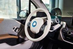 20 av Januari, 2018 - Vinnitsa, Ukraina BMW i3 elkraftmedel Arkivbilder