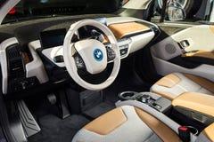 20 av Januari, 2018 - Vinnitsa, Ukraina BMW i3 elkraftmedel Royaltyfri Fotografi