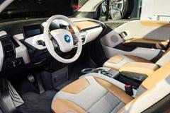 20 av Januari, 2018 - Vinnitsa, Ukraina BMW i3 elkraftmedel Royaltyfria Foton