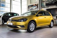 19 av Januari, 2018 - Vinnitsa, Ukraina Volkswagen VW Golf pres Arkivbilder