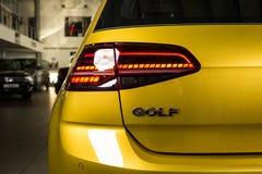 19 av Januari, 2018 - Vinnitsa, Ukraina Volkswagen VW Golf pres Arkivfoto