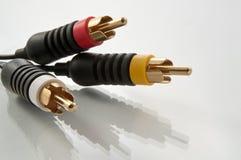 AV kabelschakelaars Royalty-vrije Stock Afbeelding
