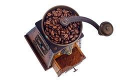 Av kaffe. kaffebönor och kaffegrinder Royaltyfria Foton